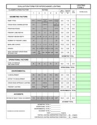 "Form LF-2 ""Evaluation Form for Interchange Lighting"" - New Jersey"
