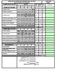 """Form LF-8 """"Evaluation Form for Intersection Lighting (New Roadway/Alignment)"""" - New Jersey"""