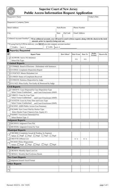Form CN:11679  Printable Pdf
