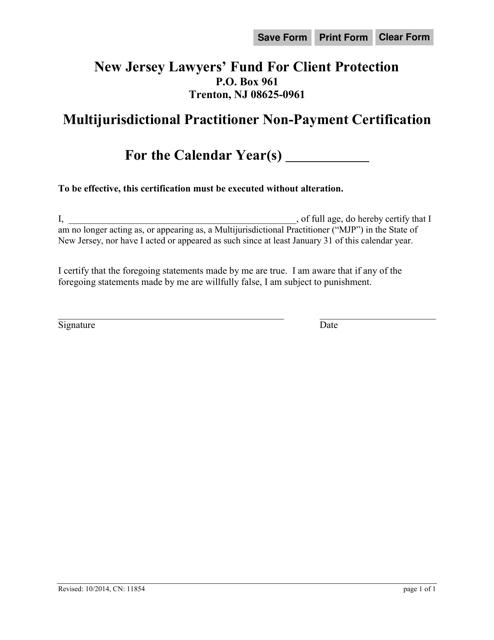 Form CN:11854  Printable Pdf