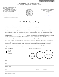 """Form CN:12000 """"Certified Attorney Logo Order Form"""" - New Jersey"""