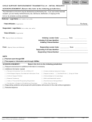 """Child Support Enforcement Transmittal #1 - Initial Request Acknowledgment"""