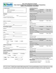 "Form HIP-5 ""Laboratory Pre-screening Worksheet"" - New Jersey"