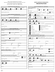 """Form SCH-0 """"Special Child Health Services Registration"""" - New Jersey"""