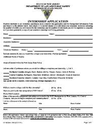 "Form S.P.806 ""Internship Application"" - New Jersey"