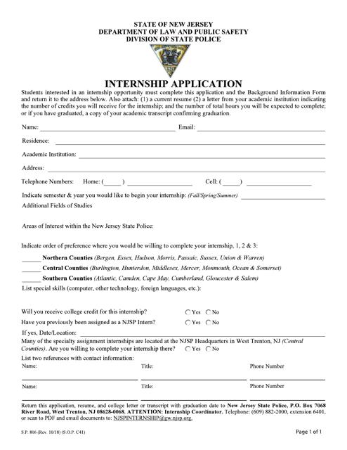 Form S.P.806  Printable Pdf
