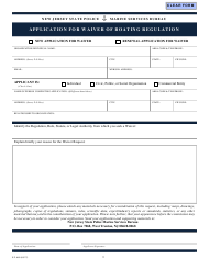 """Form S.P.660 """"Application for Waiver of Boating Regulation"""" - New Jersey"""