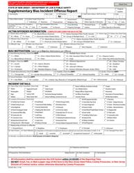 "Form UCR-BI1 ""Supplementary Bias Incident Offense Report"" - New Jersey"