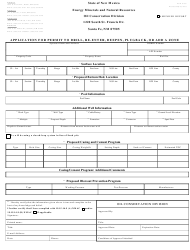 "Form C-101 ""Application for Permit to Drill, Re-enter, Deepen, Plugback, or Add a Zone"" - New Mexico"