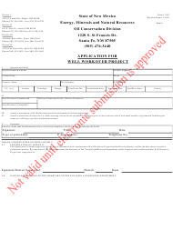 "Form C-140 ""Application for Well Workover Project"" - New Mexico"