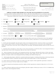 "Form C-137 ""Application for Surface Waste Management Facility"" - New Mexico"