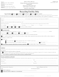 "Form C-147 ""Permit or Registration for Recycling and Re-use of Produced Water, Drilling Fluids and Liquid Oil Field Waste"" - New Mexico"
