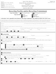 "Form C-147 ""Permit or Registration for Recycling and Re-use of Produced Water, Drilling Fluids and Liquid Oil Field Waste (Including Recycling Containment)"" - New Mexico"