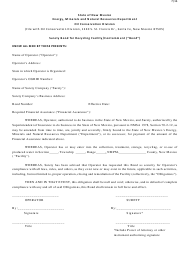 """Surety Bond for Recycling Facility/Containment"" - New Mexico"
