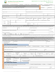 """Form LW401E """"Application for Liquid Waste Permit or Registration"""" - New Mexico"""