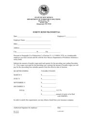 """Form ES-802OC """"Surety Bond Transmittal"""" - New Mexico"""