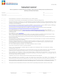 "Form A-1108 ""Subcontract Checklist"" - New Mexico"