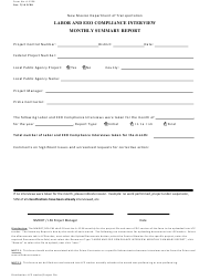 "Form A-1236 ""Labor and EEO Compliance Interview Monthly Summary Report"" - New Mexico"