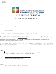 """Form A-1079 """"Final Acceptance"""" - New Mexico"""