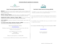"""Form HSD100 """"Application for Assistance"""" - New Mexico"""