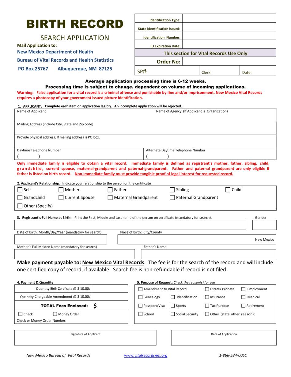 birth mexico record application pdf templateroller template