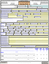 "SLD DCS Form 104 ""Chemistry Analysis Request Form"" - New Mexico"