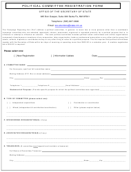 """Political Committee Registration Form"" - New Mexico"