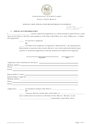 """Application for Water Monitoring Easement"" - New Mexico"