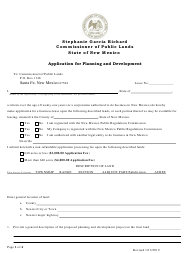 """Application for Planning and Development"" - New Mexico"