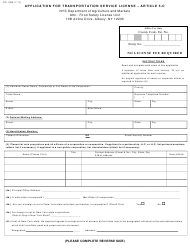 "Form FSI1000 ""Application for Transportation Service License - Article 5-c"" - New York"