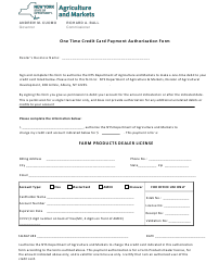 """One Time Credit Card Payment Authorization Form"" - New York"