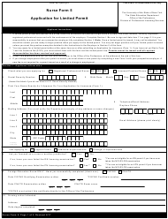 "Nurse Form 5 ""Application for Limited Permit"" - New York"