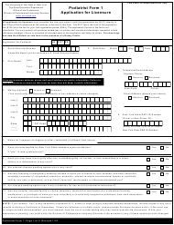 "Podiatrist Form 1 ""Application for Licensure"" - New York"