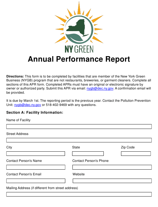"""""""Annual Performance Report"""" - New York Download Pdf"""
