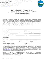 "Form DS-EAPW-1 ""Waiver Application Form"" - New York"