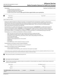 "Form DOH-4482 ""Influenza Vaccine"" - New York"