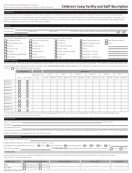 "Form DOH-367 ""Children's Camp Facility and Staff Description"" - New York"