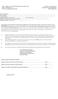 "Form DOH-485 ""Workers' Compensation Preferred Provider Organization (Ppo) Application"" - New York"