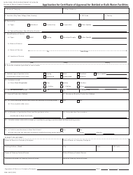 "Form DOH-349 ""Application for Certificate of Approval for Bottled or Bulk Water Facilities"" - New York"
