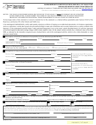 "Form MV-901D ""Garageman's Certification and Bill of Sale for Vehicles Worth Less Than $500.00"" - New York"