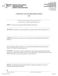 "Form DOS-1526-F ""Certificate of Registration"" - New York"