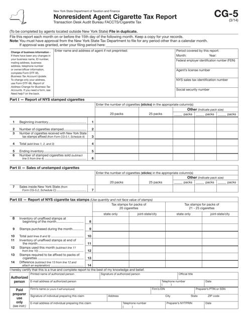 Form CG-5  Printable Pdf