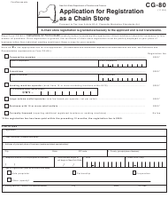 "Form CG-80 ""Application for Registration as a Chain Store"" - New York"