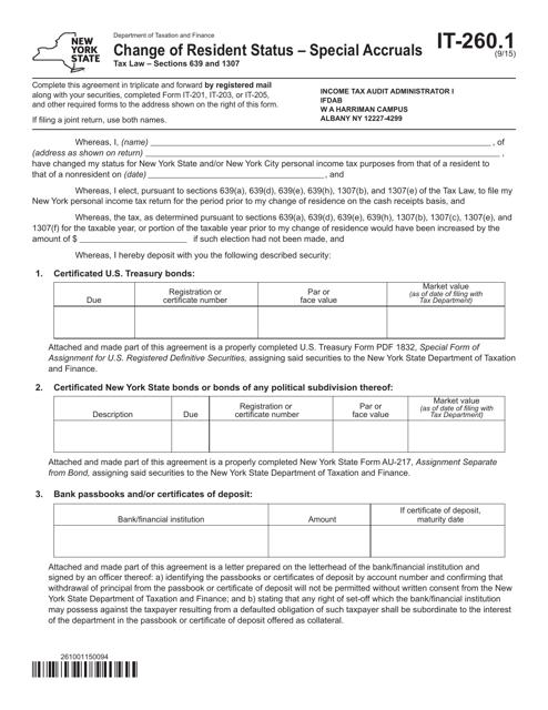 Form IT-260.1  Printable Pdf