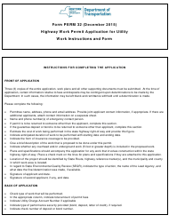 """Form PERM32 """"Highway Work Permit Application for Utility Work"""" - New York"""