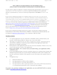 """Form RA52 """"Application to Transport Passengers in Charter Service"""" - New York"""