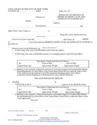 "Form CIV-LT-19 ""Affidavit of Service of Order to Show Cause and Affidavit in Support (LT)"" - New York City"