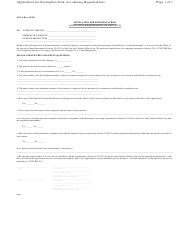 """Form ATS-1 """"Application for Exemption From Accounting Requirements of Article 23"""" - New York"""