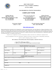 "Form EPB001 ""Complaint Form"" - New York"