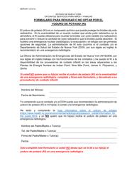"Formulario OCFS-4411 ""Formulario Para Rehusar O No Optar Por El Yoduro De Potasio (Ki)"" - New York (Spanish)"